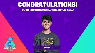 Fortnite World cup Solo World Championship Bugha 3,000,000 + Cup
