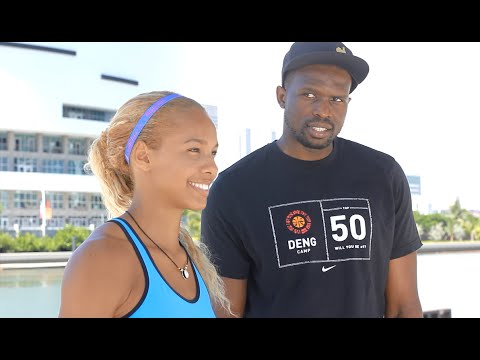 No Injuries as an Athlete?- Luol Deng MIAMI HEAT (by Alexandra Wester)