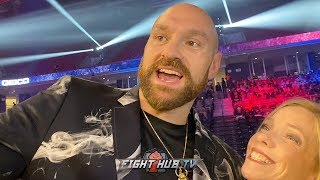 """TYSON FURY """"IVE SMASHED EVERY MOTHER**** THATS STEPPED IN FRONT OF ME"""" -MOBBED BY FANS IN PHILLY"""