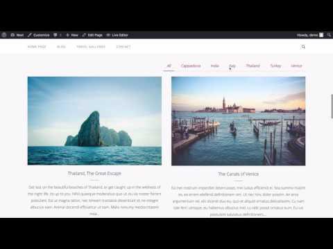 Next - A Free Prebuilt Travel Blog using WordPress
