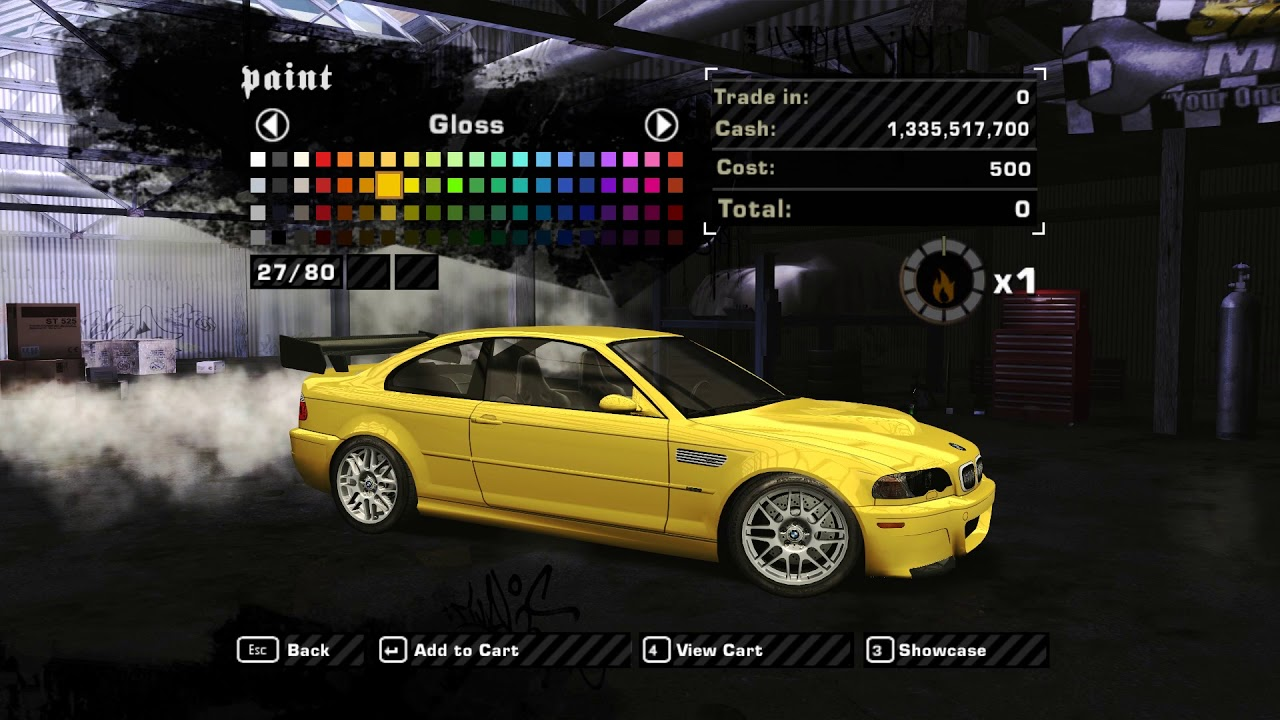 nfs most wanted online cp 1 4 added car 2 2003 bmw. Black Bedroom Furniture Sets. Home Design Ideas