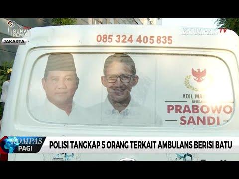 Polisi Tangkap 5 Orang Terkait Ambulans Gerindra Berisi Batu