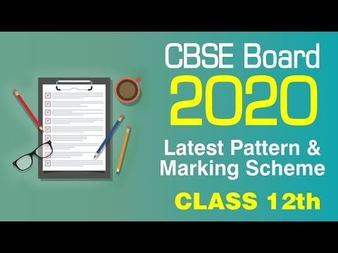 CBSE Sample Papers Class 12 For Year 2020 I Latest Exam Pattern I CBSE Board 2020