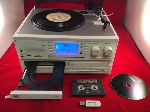 Центр оцифровки с проигрывателем винила, CD, кассет, MP3, радио Boytone A29