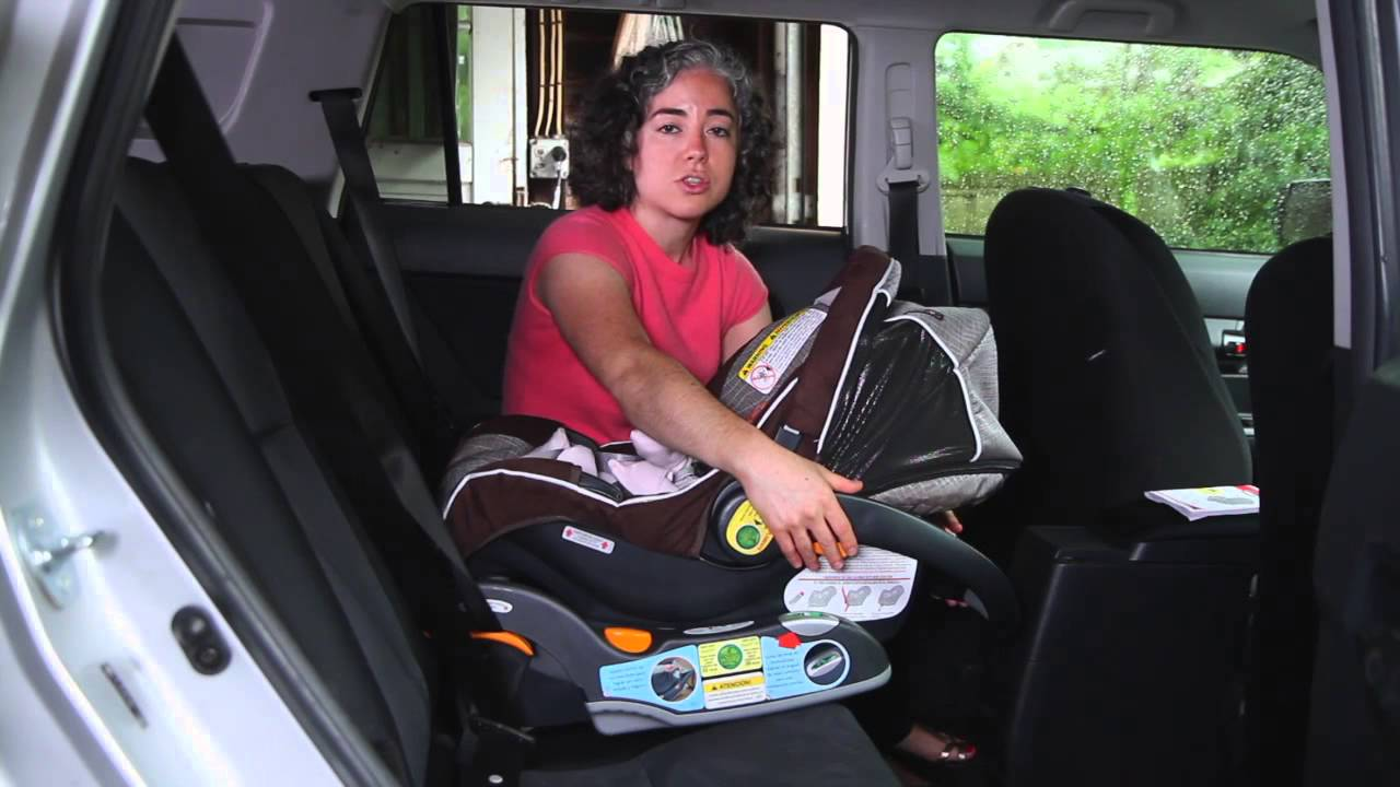 How To Secure A Car Seat Into The Base Chicco KeyFit Carrier
