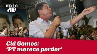 Em ato pró-Haddad, Cid Gomes cobra desculpas e diz que PT 'merece perder'