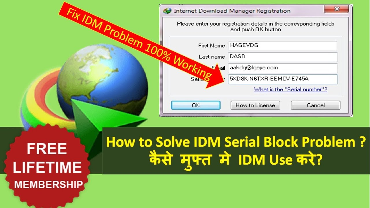 how to register internet download manager forever