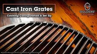 Kamado Accessories & Grilling - Goldens' Cast Iron Grates - How to Use
