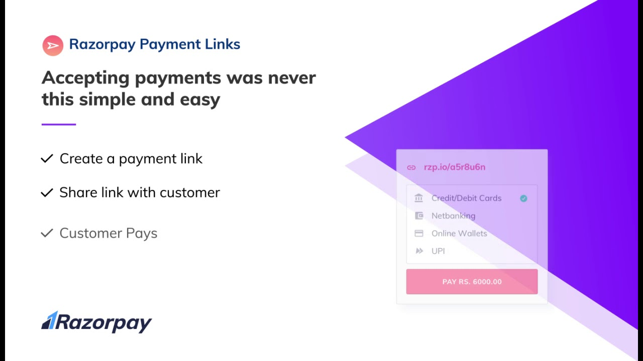 Razorpay Payment Links – Accepting Online Payments is now