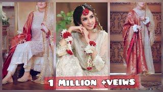 Top unique simple and gorgeous dresses for Nikkah  and engagement bride