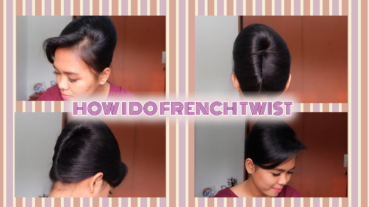 How I Do French Twist Less Than 15 Minutes Sanggul Pramugari