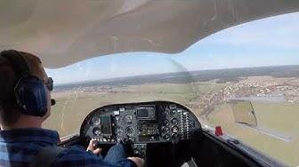 Anflug und Landung in Strausberg