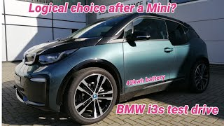 BMW i3s 2021 42kwh test drive. Logic says this is a great option after a Mini Electric