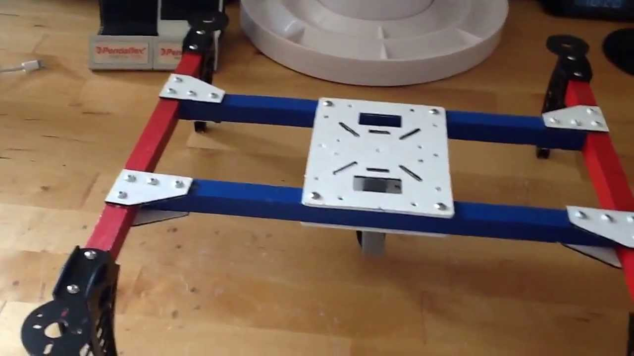 Knuckle H-Quad Multi-Rotor Build Video - Part 1 - YouTube