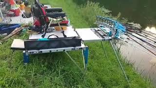 동일레저 싱글대좌대 가로설치원판연결 사용