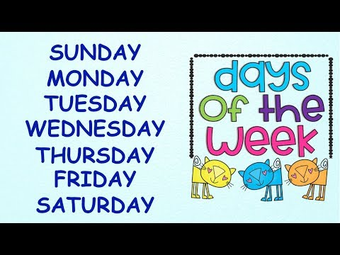 Days of the Week || With spellings|| Slow Version for Kids to learn Spellings Easily