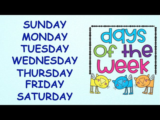 Days of the Week || With spellings|| Slow Version for Kids to learn Spellings Easily||Days in a week