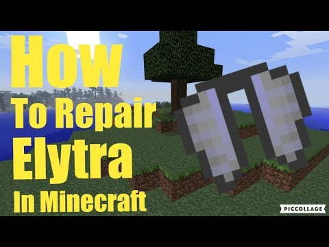 minecraft how to repair elytra