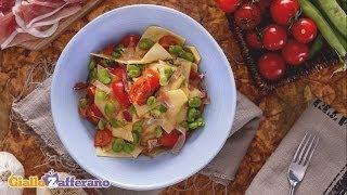 Maltagliati With Prosciutto And Fava Beans - Recipe