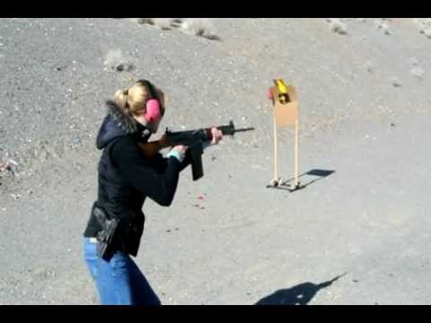 Shooting the AR-15, full auto FN FAL, Saiga 12, and blowing up Lady Gaga &  Twilight