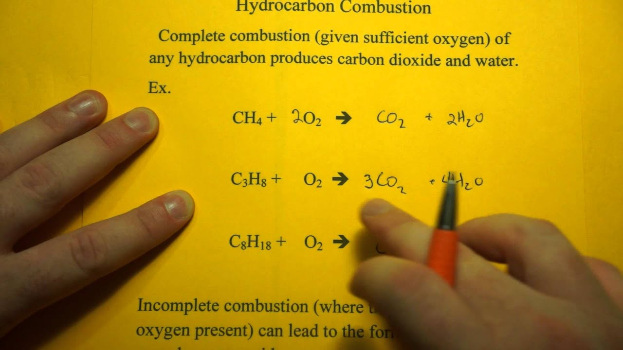 Write The Balanced Chemical Equation For Complete Combustion Of Propane C3h8