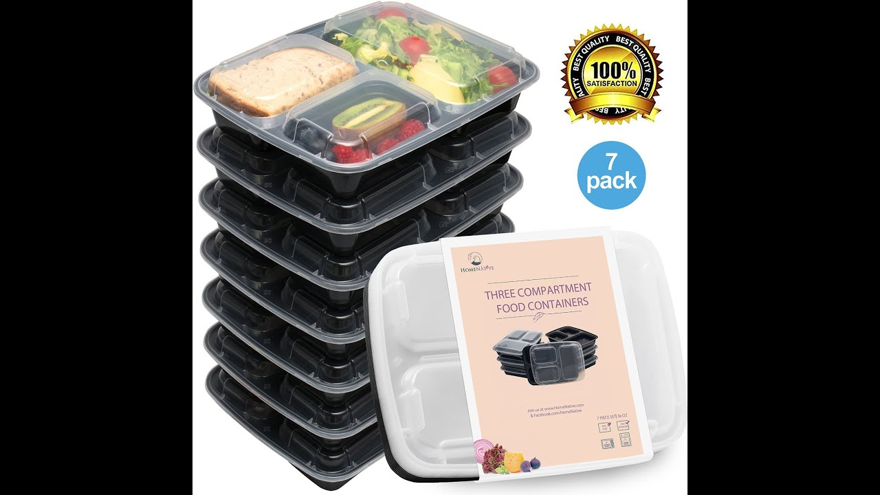 Review HomeNative Meal Prep Containers Set Pack of 7 YouTube