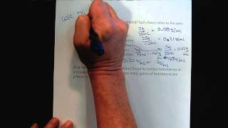 Chem 309 Solutions & Membranes Part 2 Mass over Volume