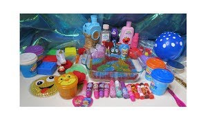 Shimmer & Shine Mixing Glitter, Makeup & Random Items into Slime Smoothie **Satisfying Slime Video