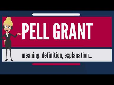 What is PELL GRANT? What does PELL GRANT mean? PELL GRANT meaning, definition & explanation
