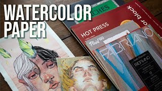 My Favorite (and least favorite) Watercolor Papers!