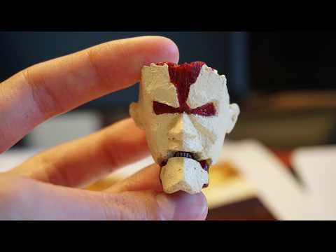 Armored Titan Face with the 3D pen, Part 1