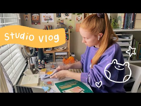 Studio Vlog 02 ★ Packing A Bunch Of Orders, New Washi Tape + Patreon Mail !