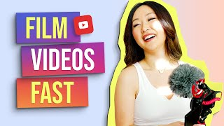 How to Film Youtube Videos 🎥 (Tips to be FAST and EFFICIENT!)