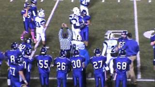 Shamokin Indians vs Shikellamy - Varsity Football - 2011 - Zach Tillett Kick Return!
