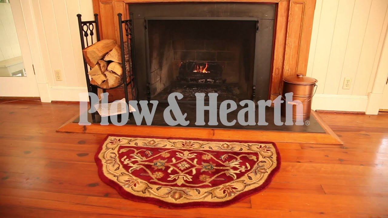 Scalloped Wool Hearth Rug SKU33845 Plow Hearth YouTube