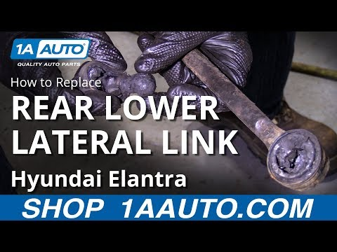 How to Replace Rear Lower Lateral Link 07-10 Hyundai Elantra