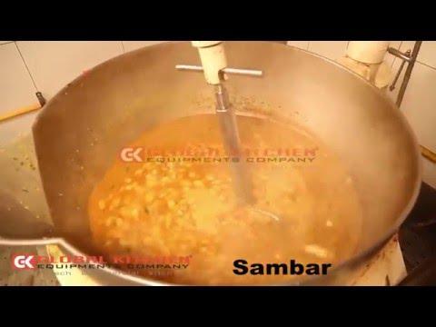 Sambaar  Cooking In GK COOKING MIXER MACHINE  By GLOBAL KITCHEN EQUIPMENTS COMPANY,COIMBATORE