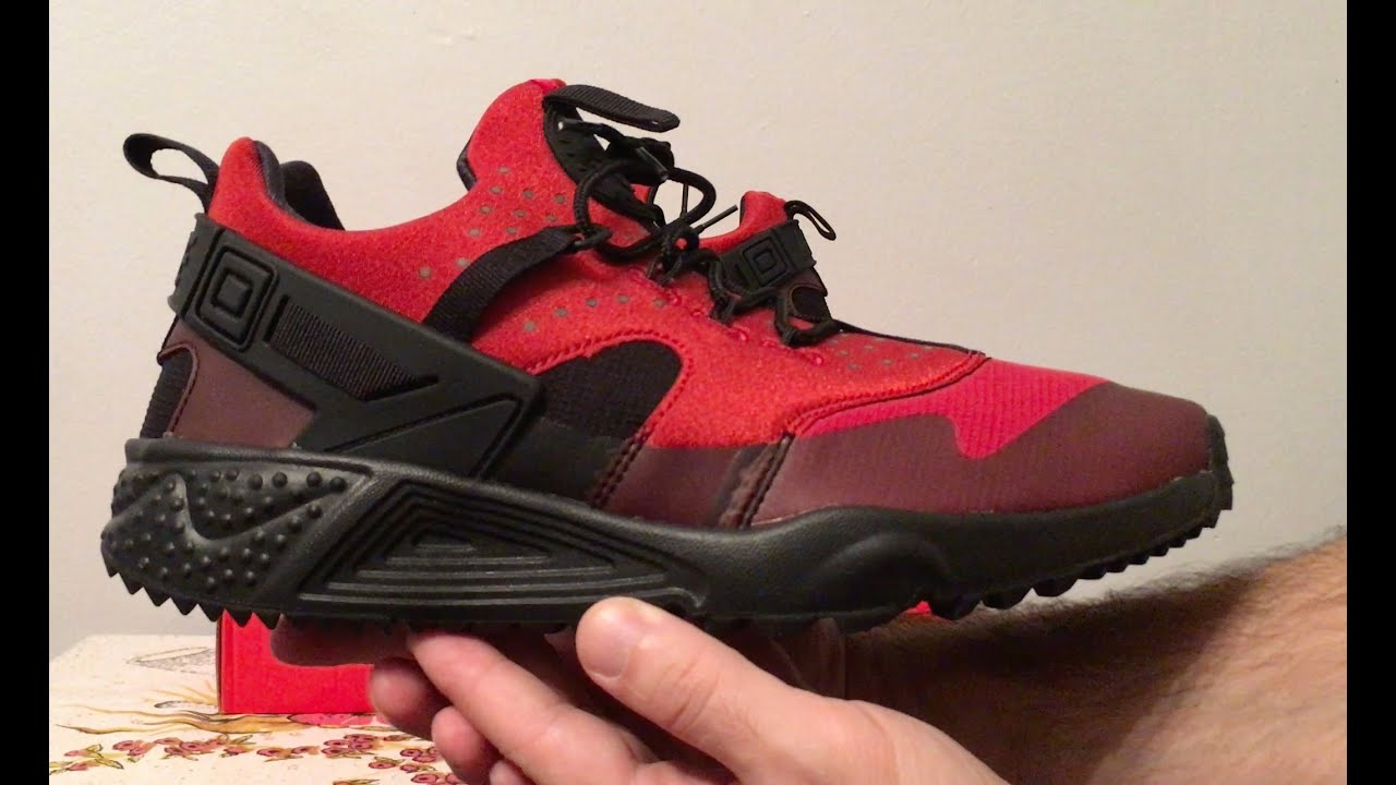 Air Huarache Red And Black