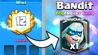 12 WIN BANDIT CHALLENGE CHEST OPENING (FIRST PLACE) Clash Royale BEST BANDIT DRAFT CHALLENGE DECKS