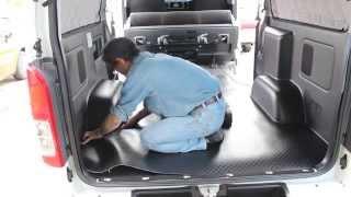Repeat youtube video 【アイズ】ハイエースロング・SGL車用のフロアシート施工①