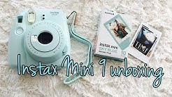 Instax Mini 9 Camera Unboxing / Set-Up : First Shot deutsch