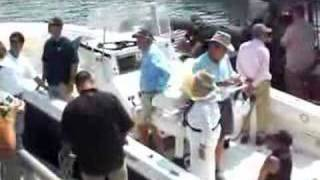 The Bush Family Boating in Perkins Cove, Ogunquit, Maine