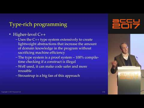 The C++ Type System Is Your Friend - Hubert Matthews [ACCU 2017]