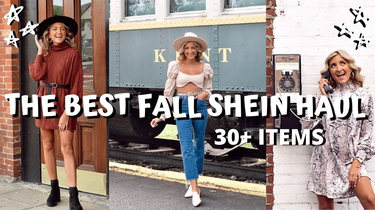 SHEIN FALL TRY ON CLOTHING HAUL // 30+ sweaters, tops, and dresses under $25