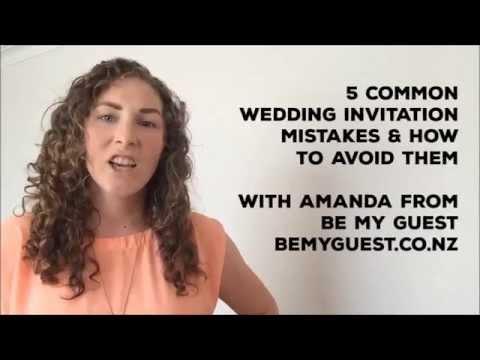 5 common wedding invitation mistakes & how to avoid them