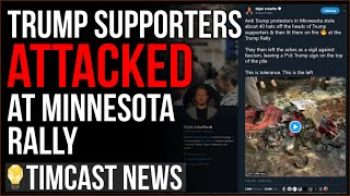 Trump Supporters ATTACKED Outside Minnesota Rally, Dozens Of MAGA Hats Torched