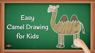 Easy Camel Drawing for Kids | Kids Learning Video | Shemaroo Kids
