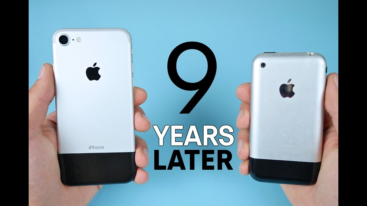 IPhone 7 Vs Original 2G 9 Year Comparison