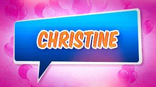 Joyeux anniversaire Christine