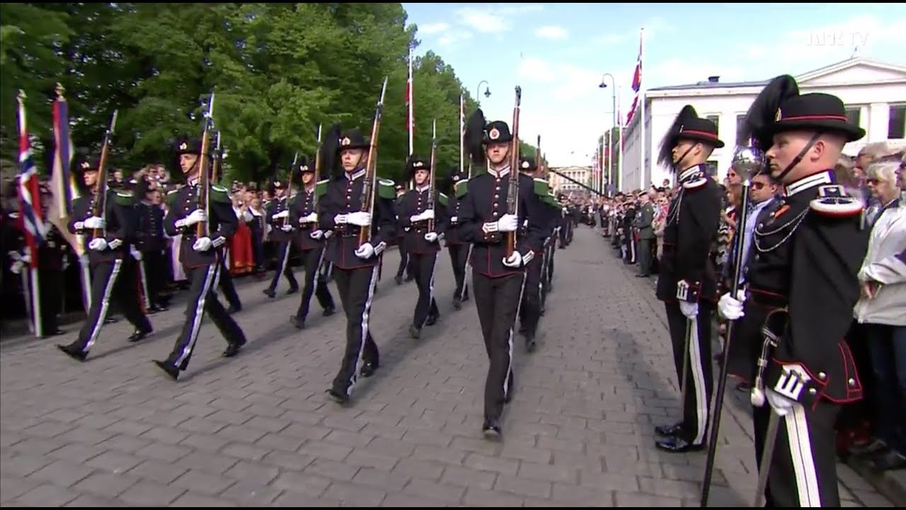 17. Mai 2018 HM Kongens Garde - His Majesty the King's Guard - Constitution Day May 17.